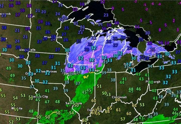 Шторм №2 принесет холод и снег, соединившись со штормом №1 ближе к северо-востоку.