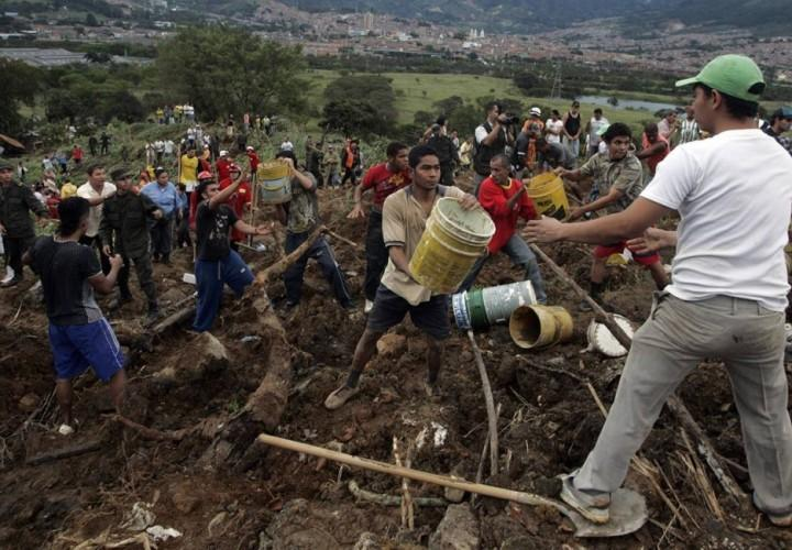 Оползень в Колумбии. Фоторепортаж